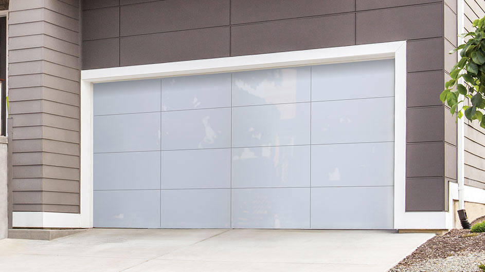 Contemporary Aluminum Garage Doors