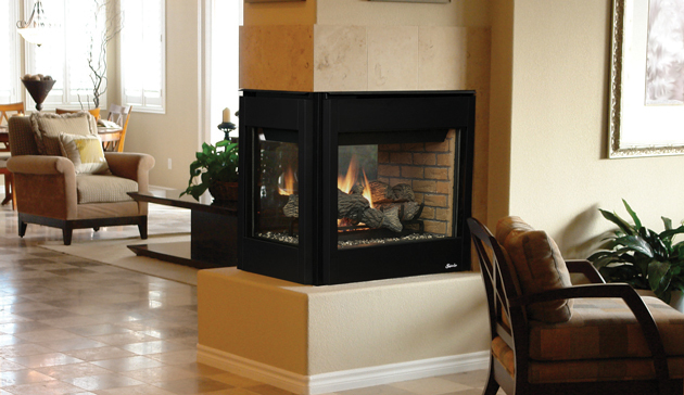 Transform your living space with a gas fireplace